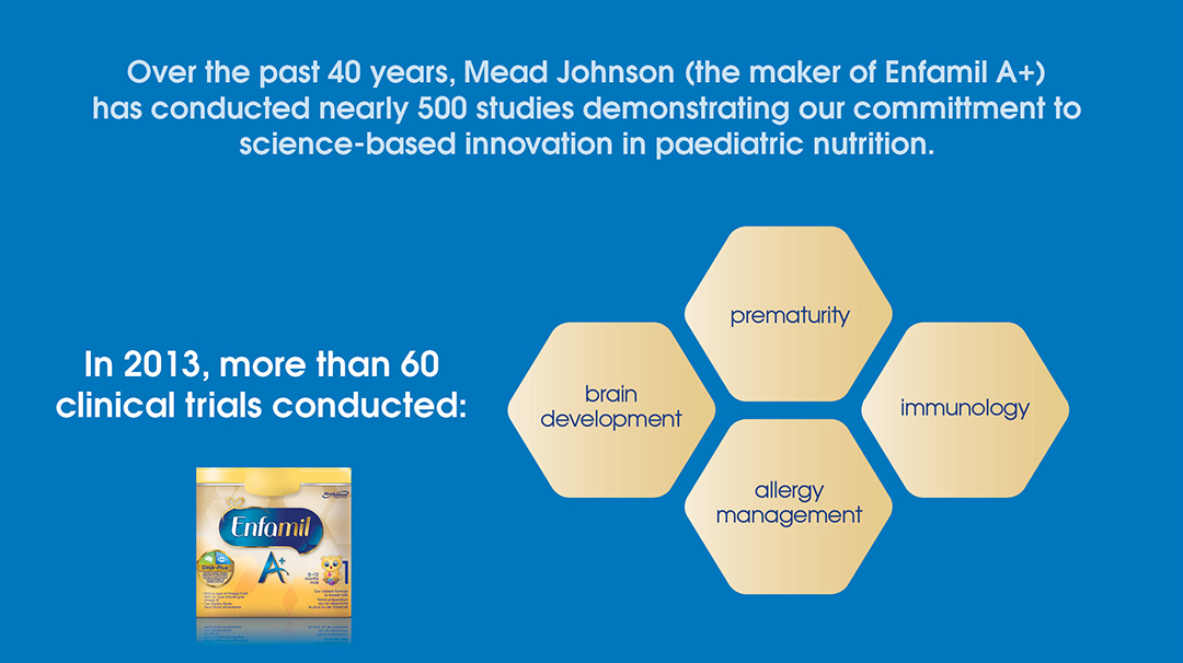 Enfamil A+ has decades of smart, effective research behind it