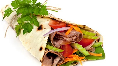 Iron - Roast Beef Wrap with parsley