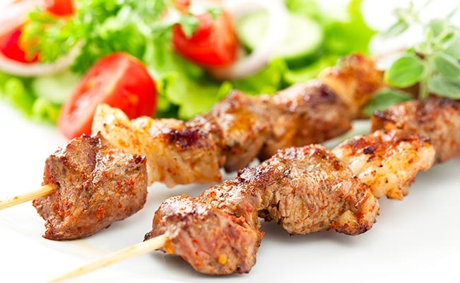 Protein - Lamb Kebabs with millet pilaf